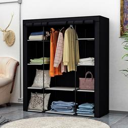 Portable Wardrobe Clothes Armoire Closet Organizer Bedroom F