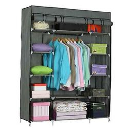 Portable Wardrobe Clothes Armoire Closet Storage Shoe Rack S