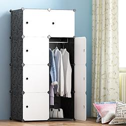 Portable Wardrobe for Hanging Clothes Combination Armoire Mo