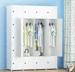 Portable Wardrobe for Hanging Clothes, Combination Armoire,