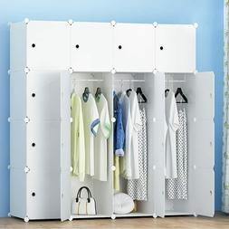 MEGAFUTURE Portable Wardrobe for Hanging Clothes 16 Cube Mod