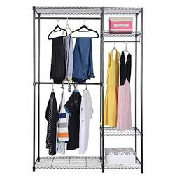 S AFSTAR Safstar Heavy Duty Clothing Garment Rack Wire Shelv