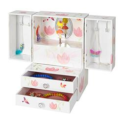JewelKeeper Princess Musical Jewelry Armoire with 2 Pullout