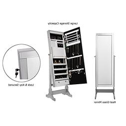 Radiant Silver Jewelry Cheval Armoire - Full Length Mirror |