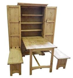 Rustic Cowboy Kitchen - Solid Pine - Western - Fold Up Table