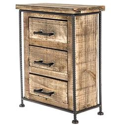 Rustic Wood Cabinet with Drawers Jewelry Cabinet Jewelry Box