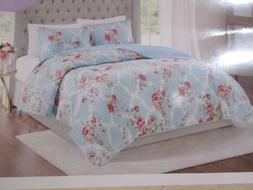 Shabby Chic Armoire Collection Cottage Rose Blue Quilted Bed