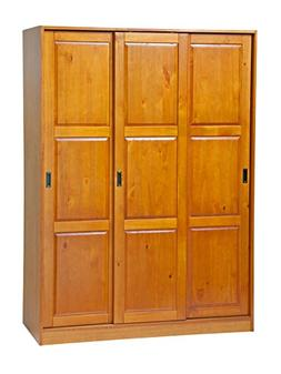100% Solid Wood 3-Sliding Door Wardrobe/Armoire/Closet by Pa