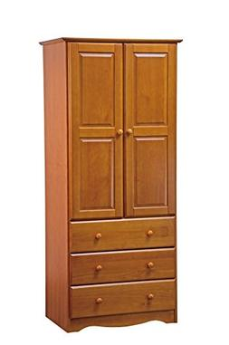 "New! 100% Solid Wood 32""-Combo Wardrobe/Armoire/Closet/3-D"
