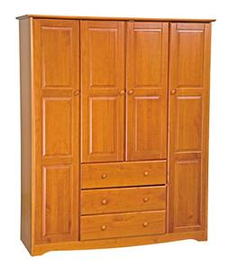 New! 100% Solid Wood Family Wardrobe/Armoire/Closet 5964 by