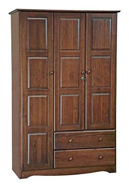 Palace Imports 100% Solid Wood Grand Wardrobe/Armoire/Closet