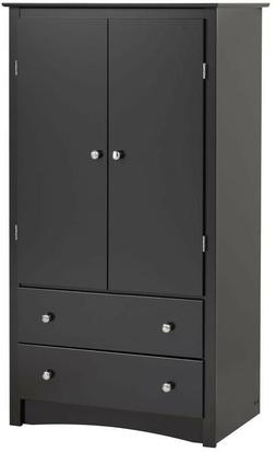 Sonoma Black Armoire Bedroom Furniture Wardrobes Composite M