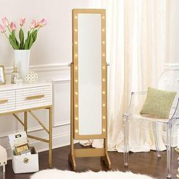 InnerSpace Luxury Products Free Standing Jewelry Armoire wit