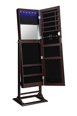 Abington Lane Standing Jewelry Armoire - Lockable Cabinet Or