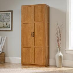 Sauder Storage Cabinet - 16 Deep 419188 Sgs Light Wood Finis