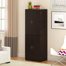 Storage Cabinet Wood Furniture Wardrobe Closet Bedroom Hangi