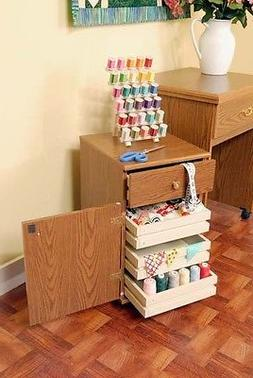 Arrow Suzi Sewing Machine Cabinet Storage Unit - Oak