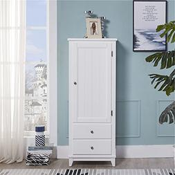 SW White Rustic Wood Storage Cabinet Wardrobe Home Furniture