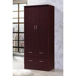 Tall Armoire Wardrobe Closet Storage Cabinet Bedroom Furnitu