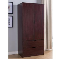 Tall Wardrobe Closet Cabinet Bedroom Clothes Storage Drawer