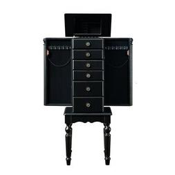 Powell Traditional Ebony Jewelry Armoire