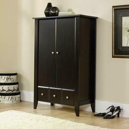 Transitional Armoire Cabinet Hidden Storage Drawers 2 Doors