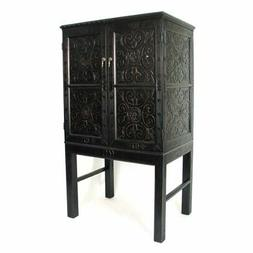 Pemberly Row TV Armoire in Antique Black