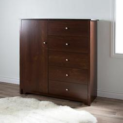 South Shore Vito 5 Drawer Chest Sumptuous Cherry