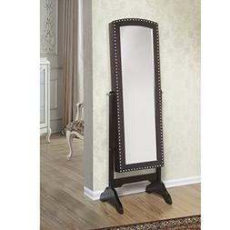 W Unlimited Abby Classic Long Cheval Mirror Jewelry Cabinet