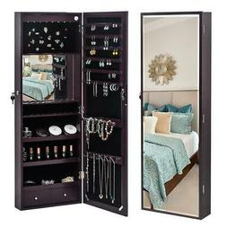 Wall Door Mounted Mirror Jewelry Cabinet Armoire Jewelry Org