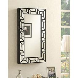 Coaster Wall Mount Jewelry Armoire Mirror in Black
