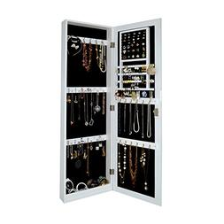 Wall Mount Jewelry Armoire Wooden Over the Door Cabinet with