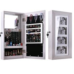 Bonnlo Photo Frames Jewelry Armoire Wall Mounted Cabinet,4 P