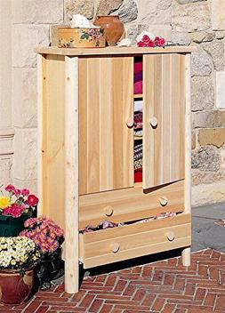 Rustic Wardrobe Armoire in Northern White Cedar