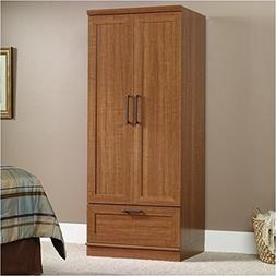 Pemberly Row Wardrobe Armoire in Sienna Oak Finish
