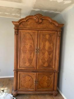 Wardrobe Armoire Storage Closet Cabinet Wood Clothes Organiz