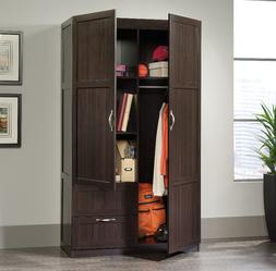 Wardrobe Storage Cabinet Wooden Armoire Adjustable Shelf 2 D