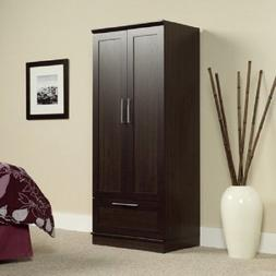 Wardrobe Storage Closet Organizer Cabinet Wood Clothes Hangi