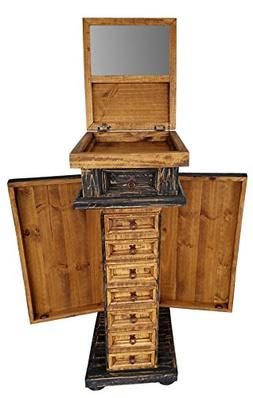 Rustic Western Jewelry Armoires Solid Wood Already Assembled
