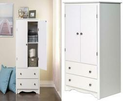 Prepac White Monterey 2 Door Armoire