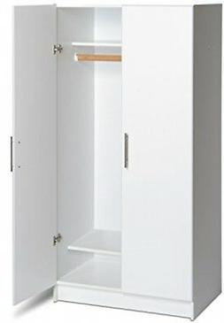 White Wardrobe Cabinet Armoire Clothing Storage Cupboard Fre