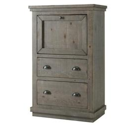 Willow Distressed Dark Gray Armoire Desk