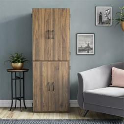 Wood Storage Cabinets Tall Pantry Cupboard Home Kitchen Line