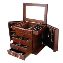 Rowling Extra Large Wooden Jewelry Box/Jewel Case Cabinet Ar