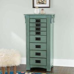 Powell Furniture Ziva Jewerly Armoire Teal